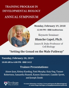 Blanche Capel - Developmental Biology Training Grant Speaker @ Main Auditorium | Philadelphia | Pennsylvania | United States