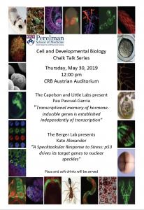 CDB Chalk Talk: Berger/Capelson Labs @ CRB Austrian Auditorium