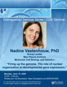 Webinar: Nadine Vastenhouw @ BRB Main Auditorium