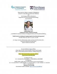 CHOP/CDB Recruitment Webinar: Haifeng Wang