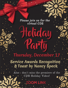 CDB Holiday Toast and Service Award Recognition